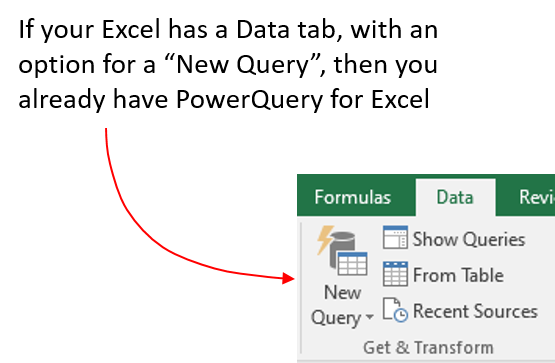 Test to see if you have Power Query plug in installed in Excel
