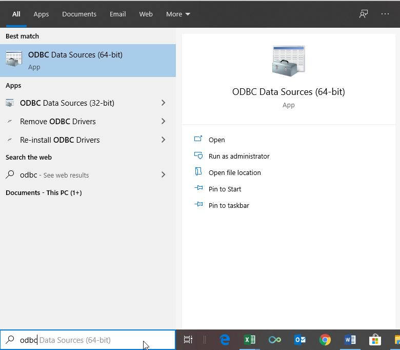 ODBC Administrator App