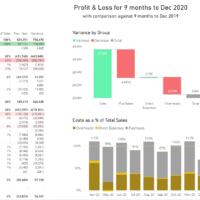 Power BI Profit and Loss Example
