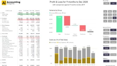 Power BI Profit and Loss Example